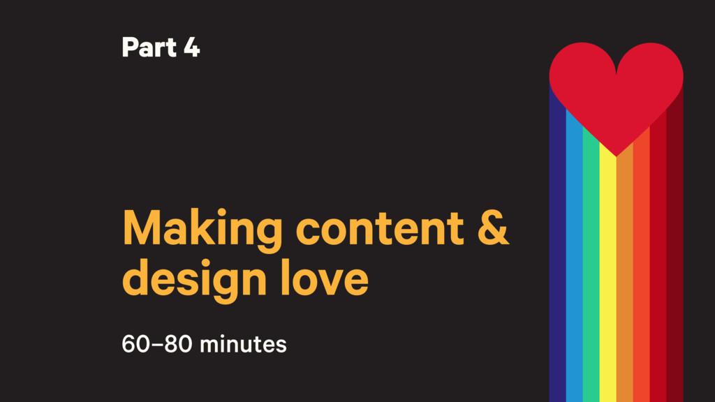 Making content & design love Part 4 60–80 minut...