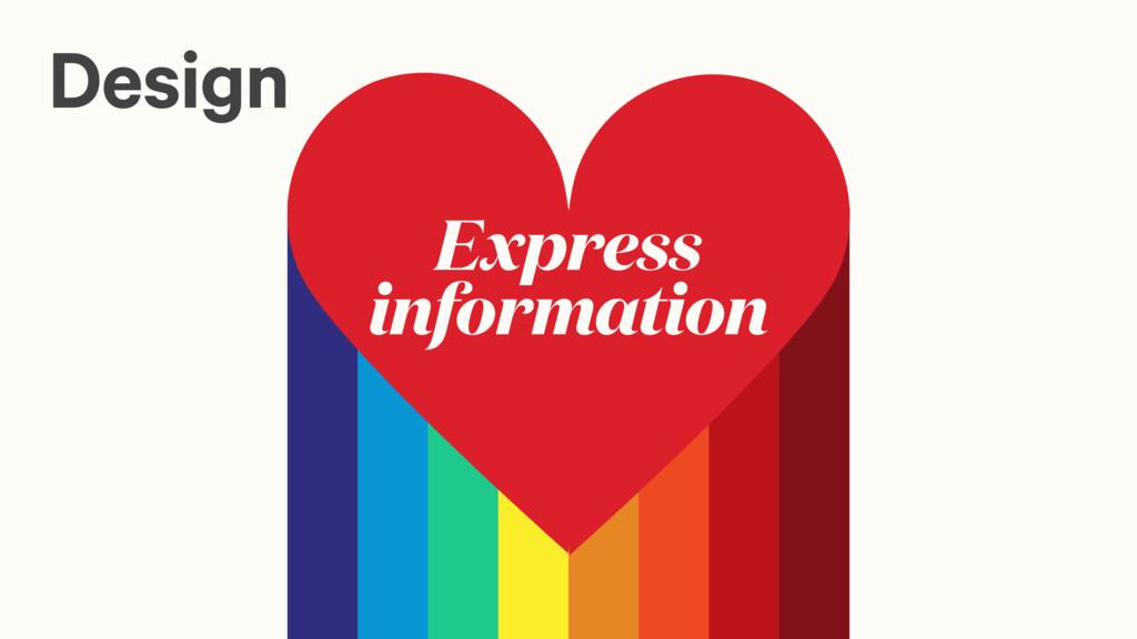 Express information Design