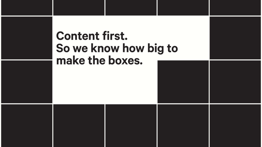 Content first. So we know how big to make the b...