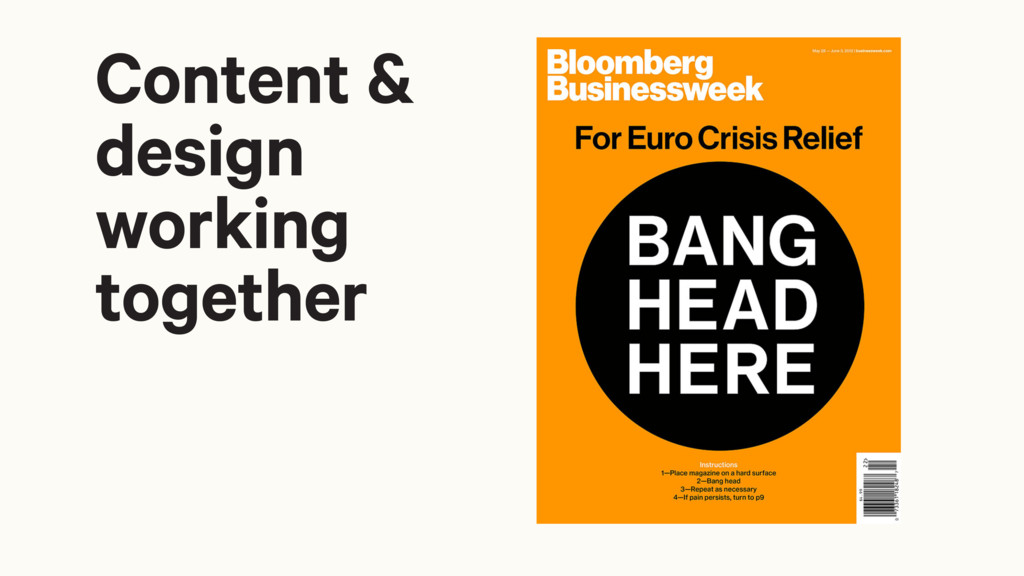Content & design working together