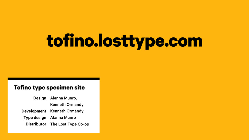 tofino.losttype.com Design Development Type des...