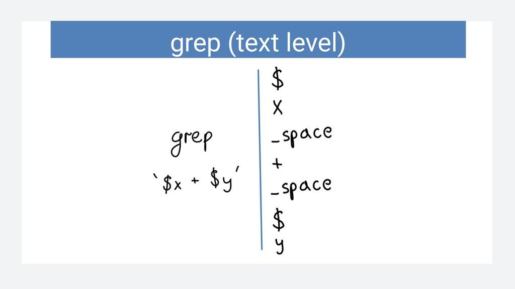grep (text level)