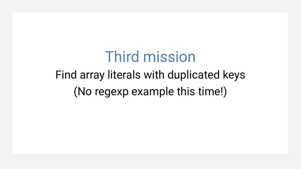 Find array literals with duplicated keys (No re...