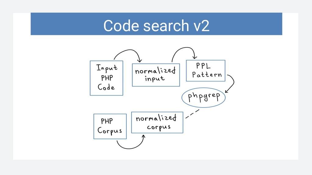 Code search v2