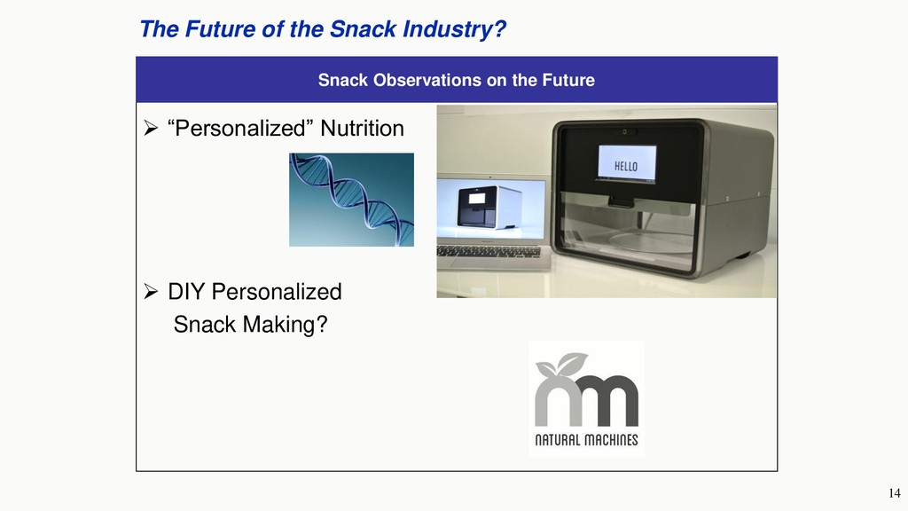 14 The Future of the Snack Industry? Snack Obse...