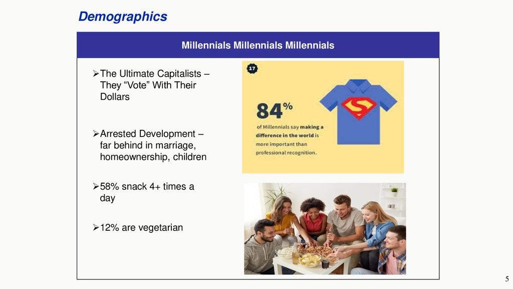 5 Demographics Millennials Millennials Millenni...