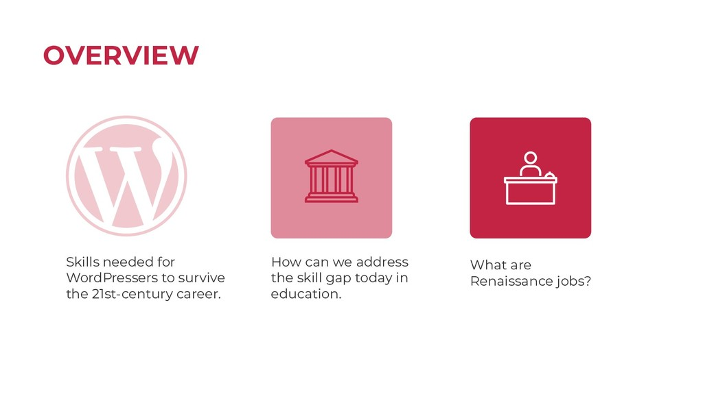 OVERVIEW Skills needed for WordPressers to surv...