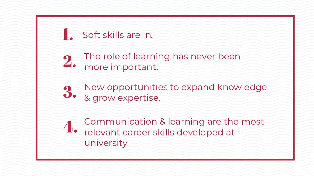 Soft skills are in. The role of learning has ne...