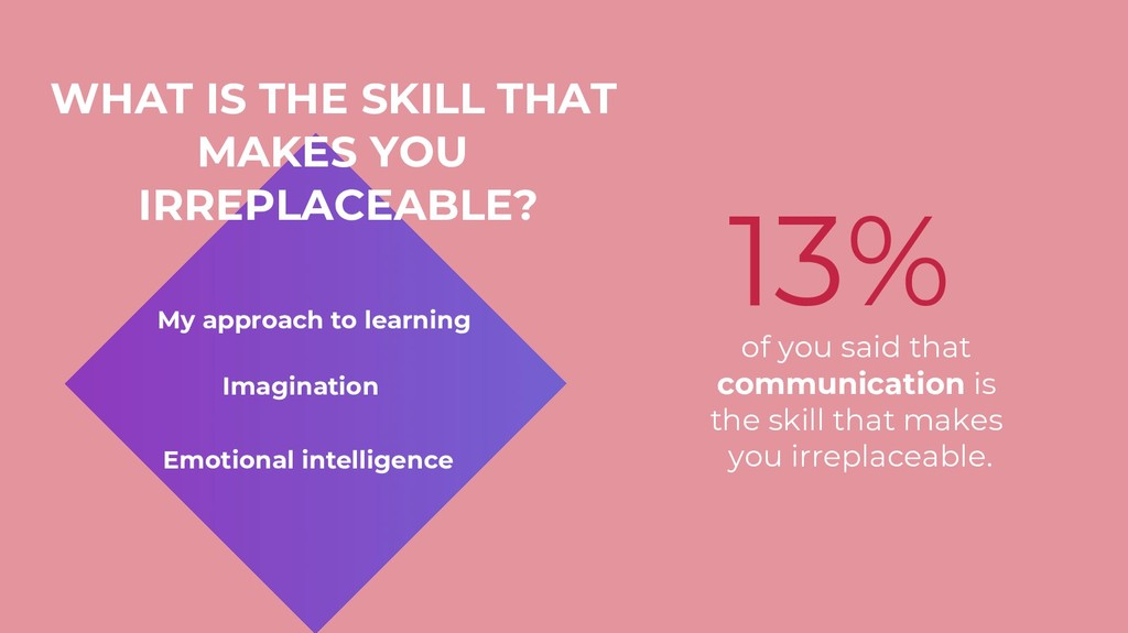 WHAT IS THE SKILL THAT MAKES YOU IRREPLACEABLE?...