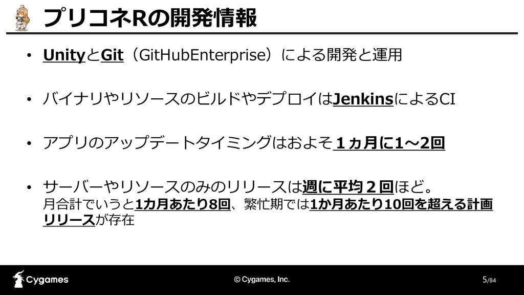5/84 プリコネRの開発情報 • UnityとGit(GitHubEnterprise)によ...
