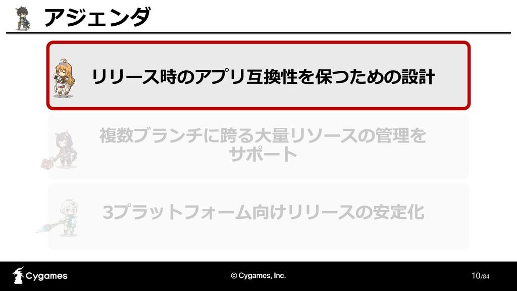 10/84 リリース時のアプリ互換性を保つための設計 アジェンダ