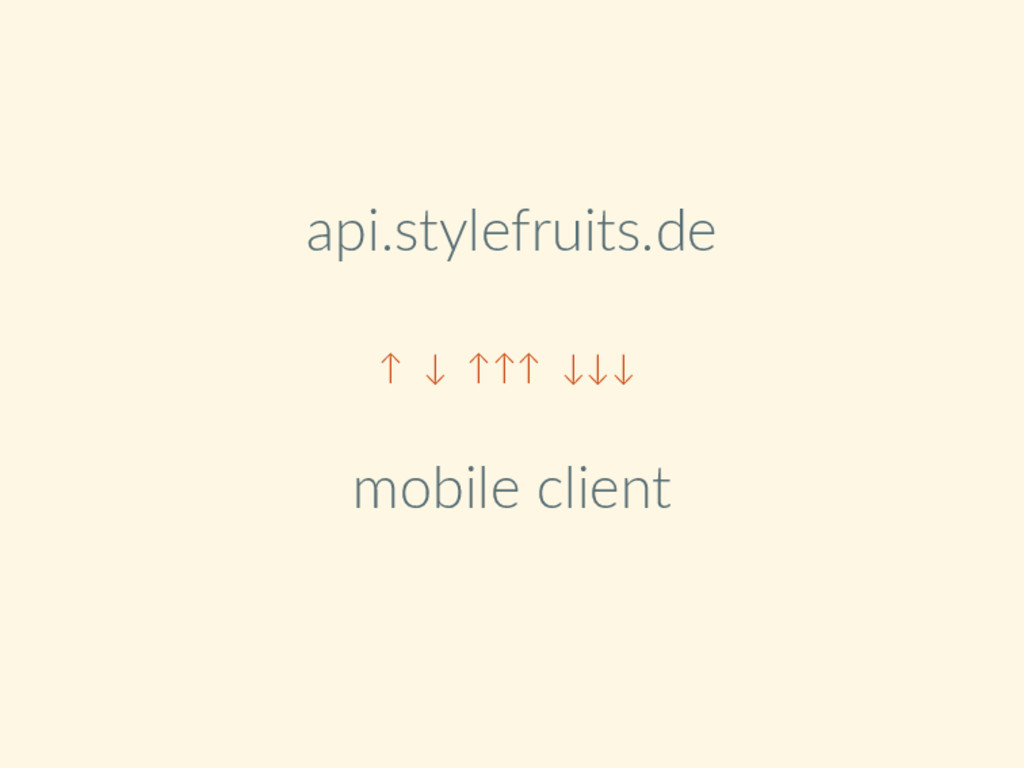 api.stylefruits.de ↑ ↓ ↑↑↑ ↓↓↓ mobile client