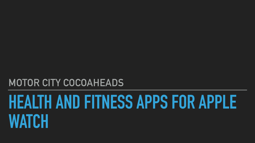 HEALTH AND FITNESS APPS FOR APPLE WATCH MOTOR C...