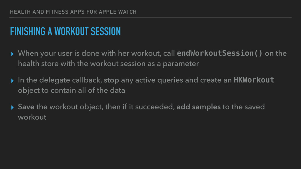 HEALTH AND FITNESS APPS FOR APPLE WATCH FINISHI...