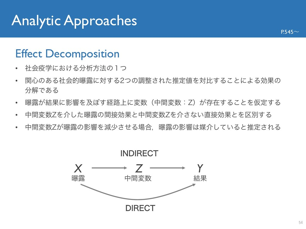 Analytic Approaches Effect Decomposition P.545〜...