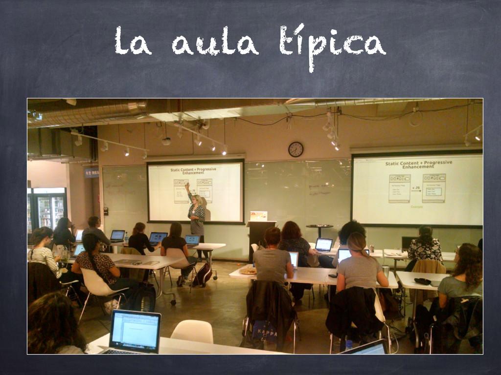 la aula típica