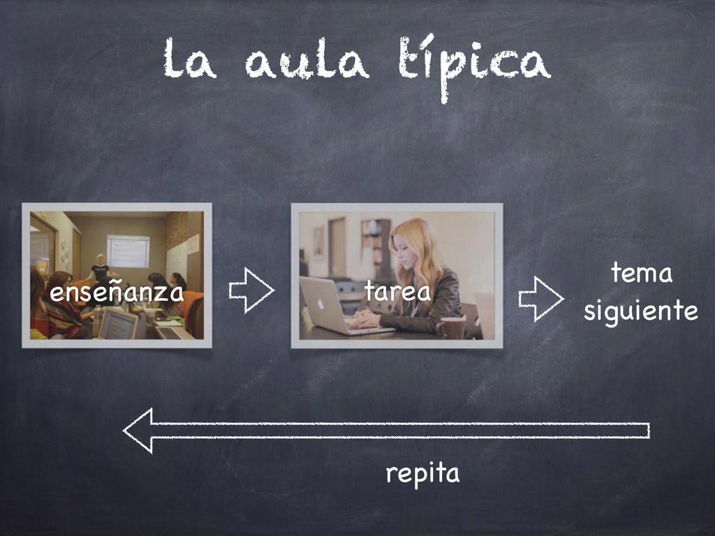 la aula típica enseñanza tarea tema  siguiente...