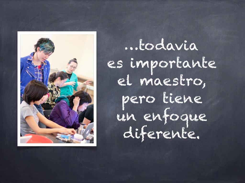 …todavia es importante el maestro, pero tiene u...