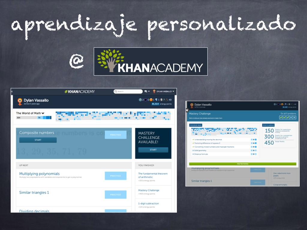 aprendizaje personalizado @