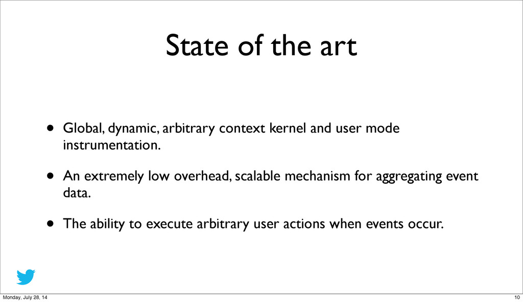 State of the art • Global, dynamic, arbitrary c...