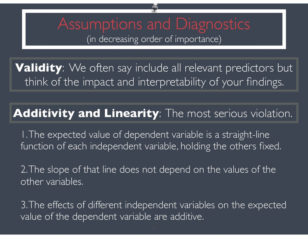 22 Validity: We often say include all relevant ...