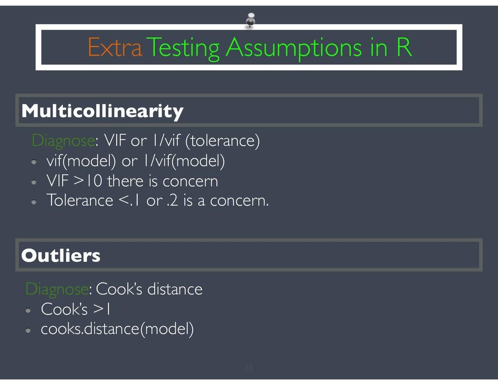 26 Extra Testing Assumptions in R Multicollinea...
