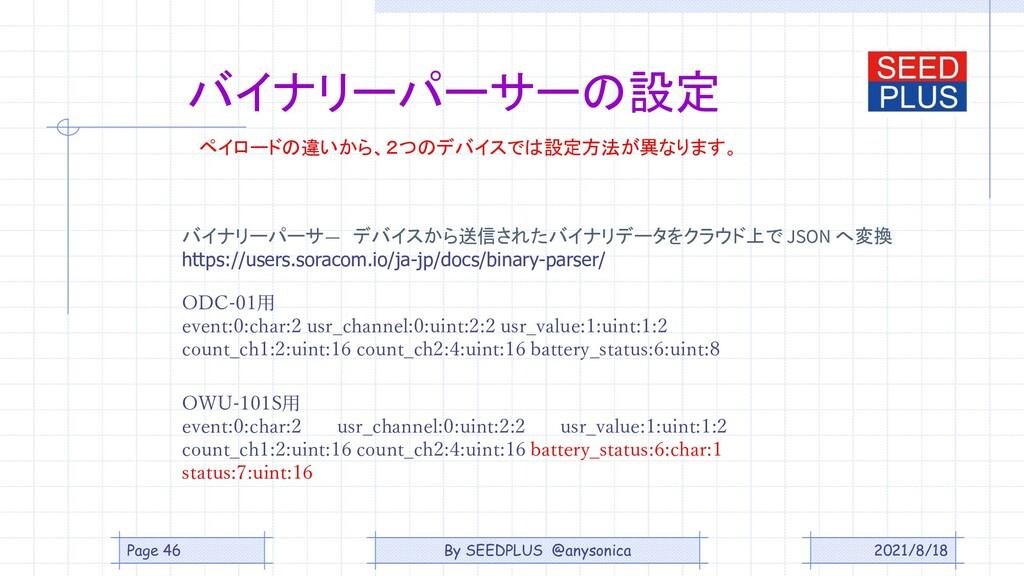 2021/8/18 バイナリーパーサーの設定 ODC-01用 event:0:char:2 u...
