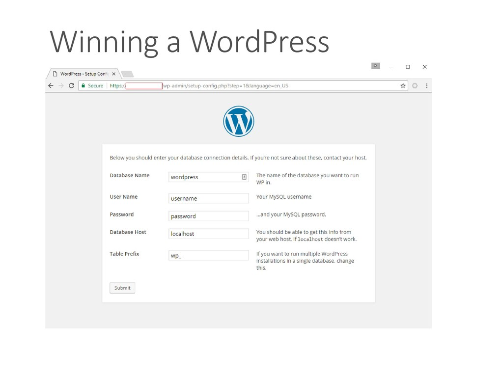 Winning a WordPress