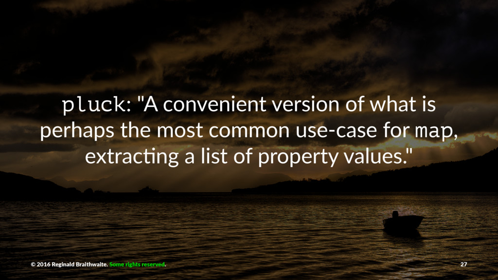 "pluck: ""A convenient version of what is perhaps..."