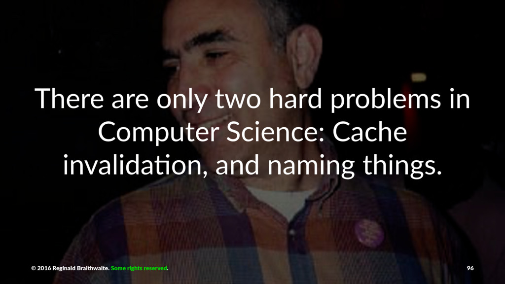 There are only two hard problems in Computer Sc...