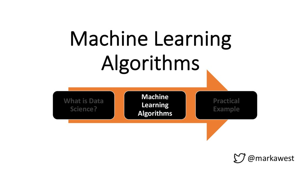 Machine Learning Algorithms What is Data Scienc...