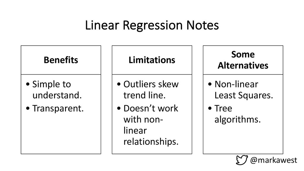 Linear Regression Notes Benefits • Simple to un...