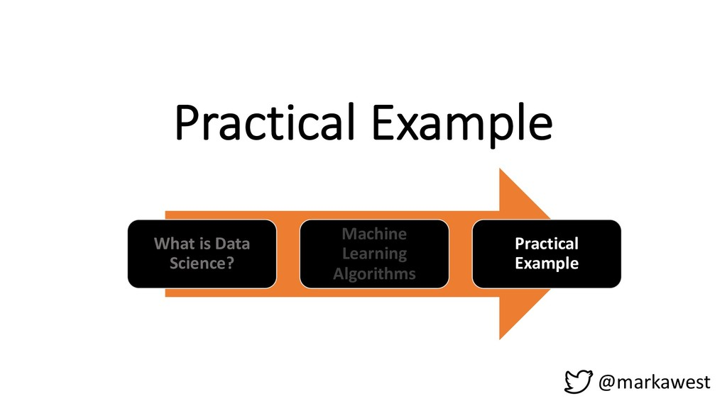 Practical Example What is Data Science? Machine...