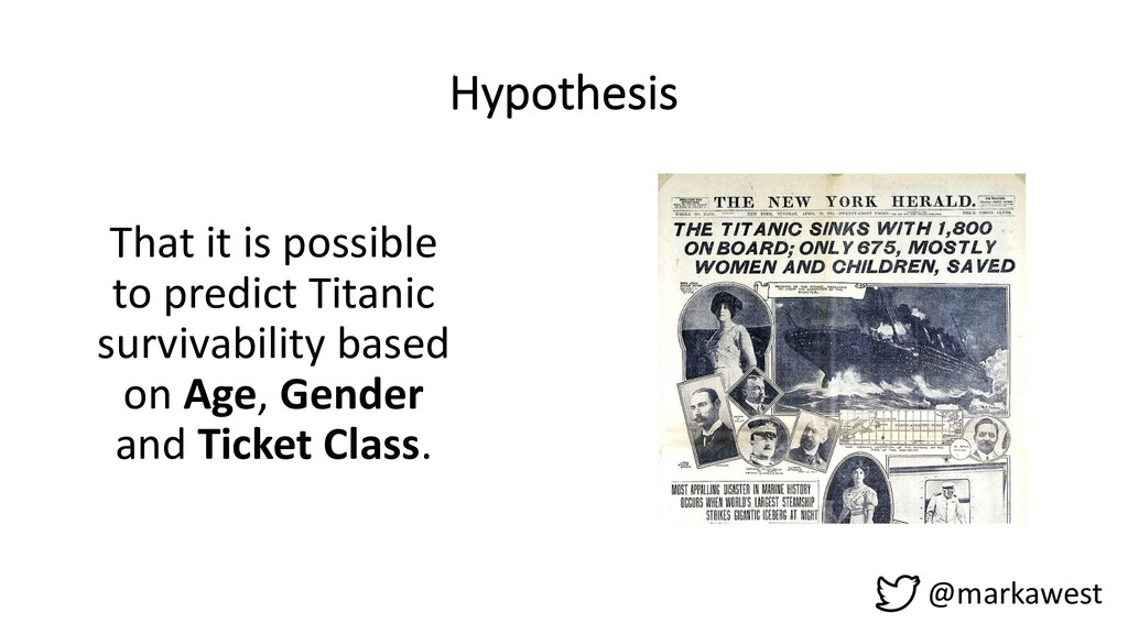 Hypothesis That it is possible to predict Titan...