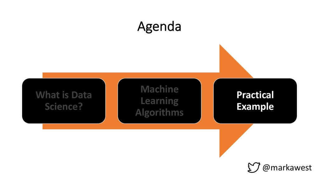 Agenda What is Data Science? Machine Learning A...