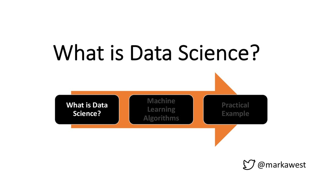 What is Data Science? What is Data Science? Mac...