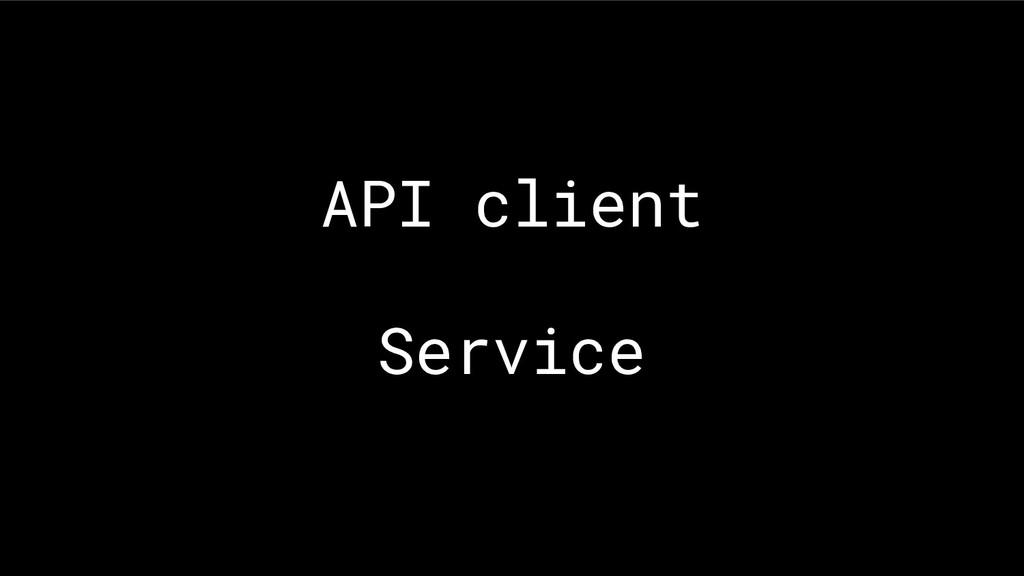 API client Service