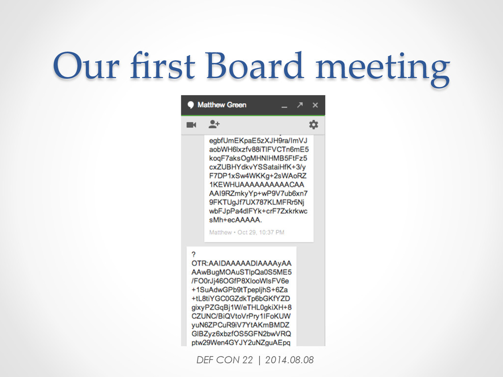 Our first Board meeting DEF CON 22 | 2014.0...