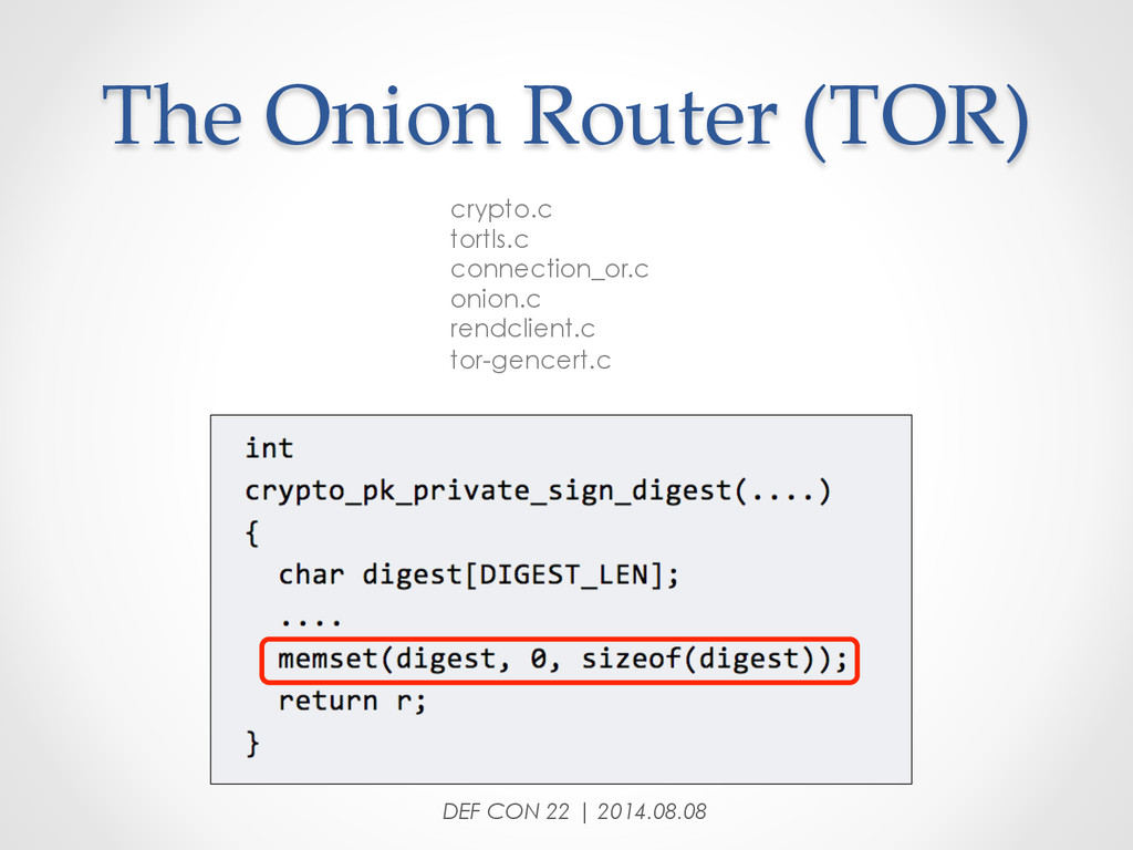The Onion Router (TOR) crypto.c tortls.c c...