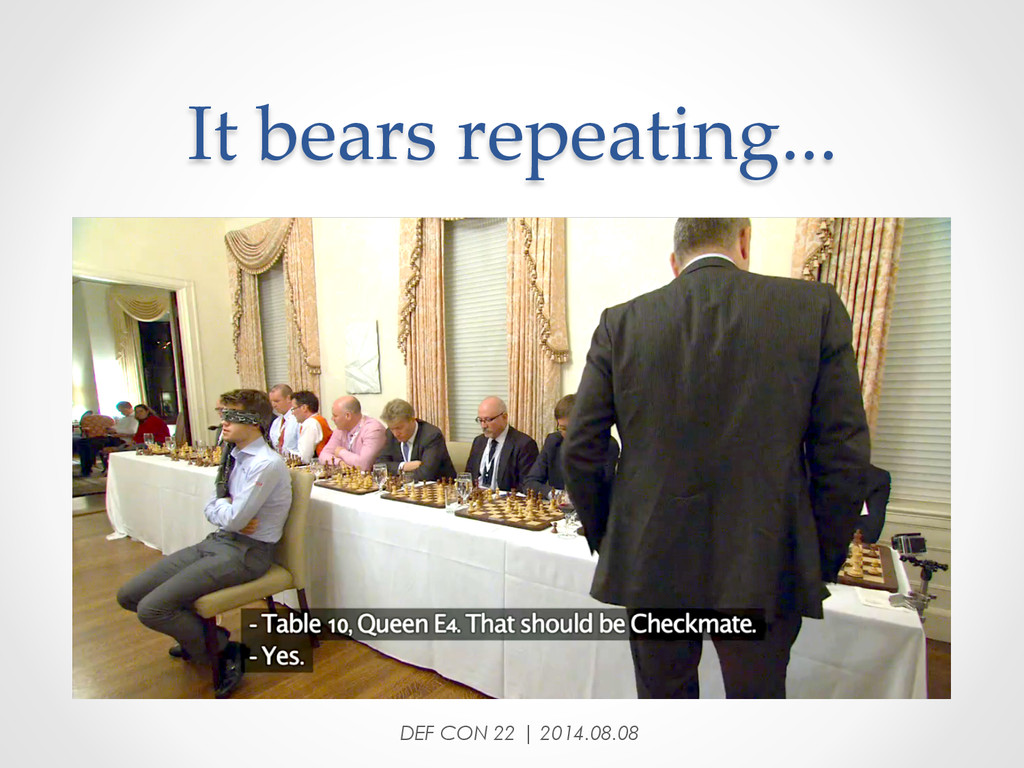 It bears repeating... DEF CON 22 | 2014.08....