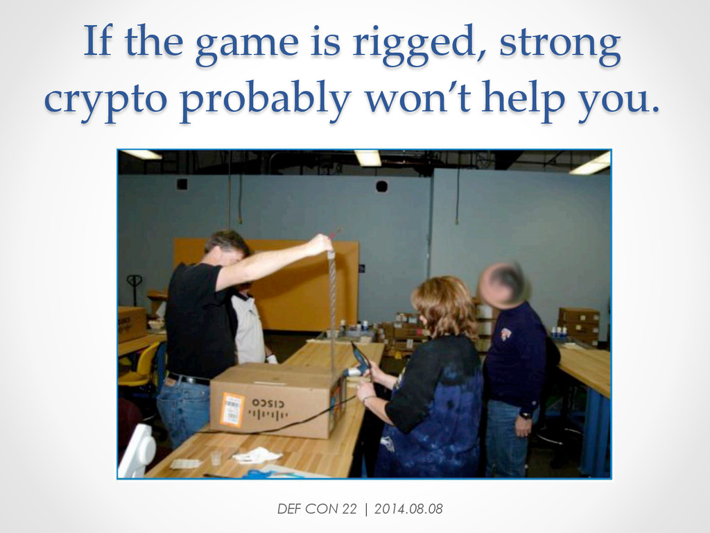 If the game is rigged, strong  crypto pr...