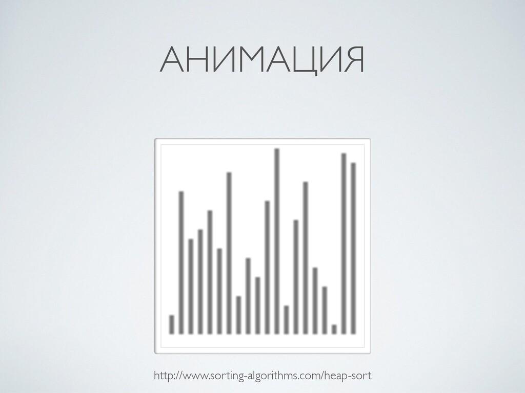 АНИМАЦИЯ http://www.sorting-algorithms.com/heap...