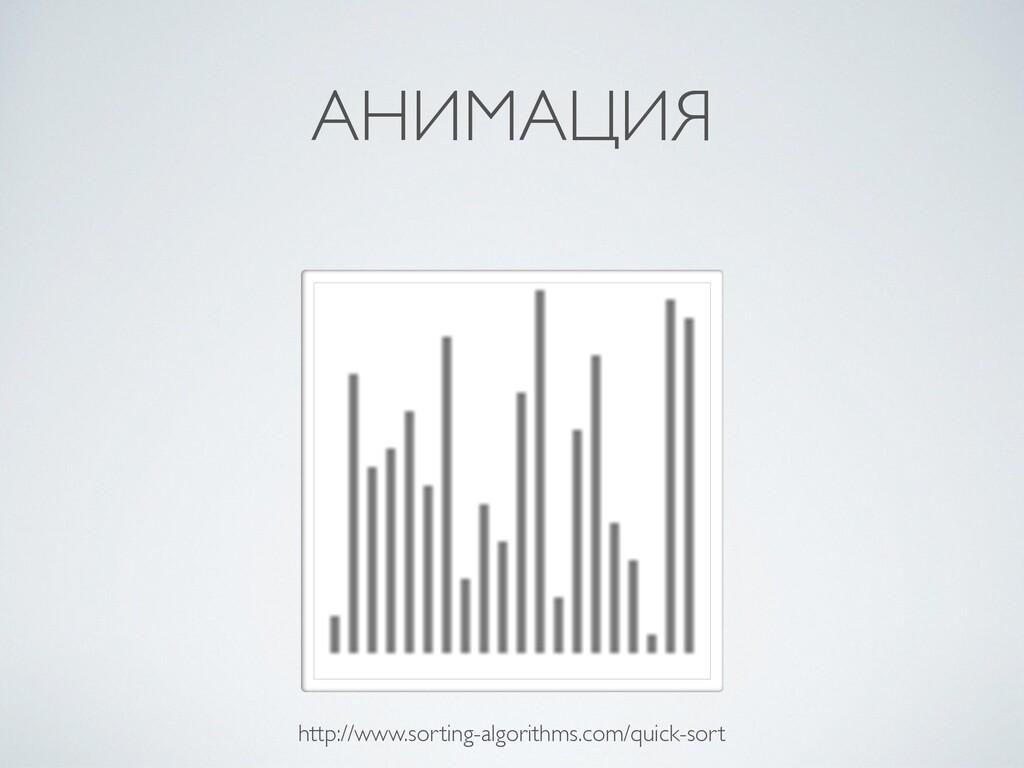 АНИМАЦИЯ http://www.sorting-algorithms.com/quic...