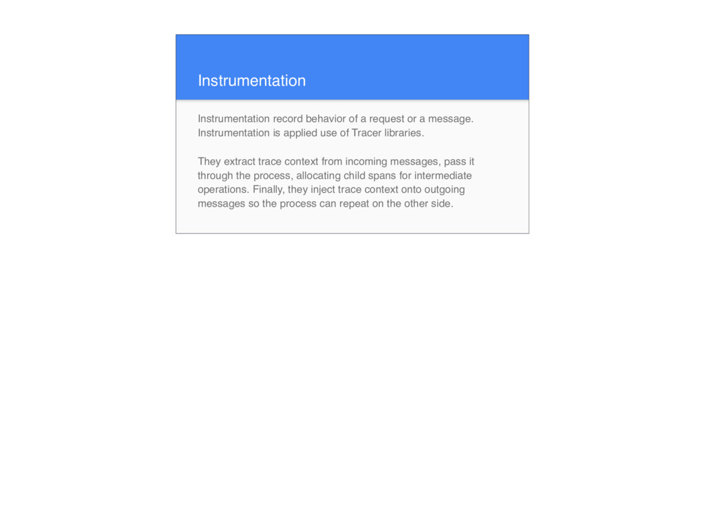 Instrumentation Instrumentation record behavior...