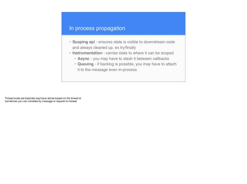 In process propagation • Scoping api - ensures ...