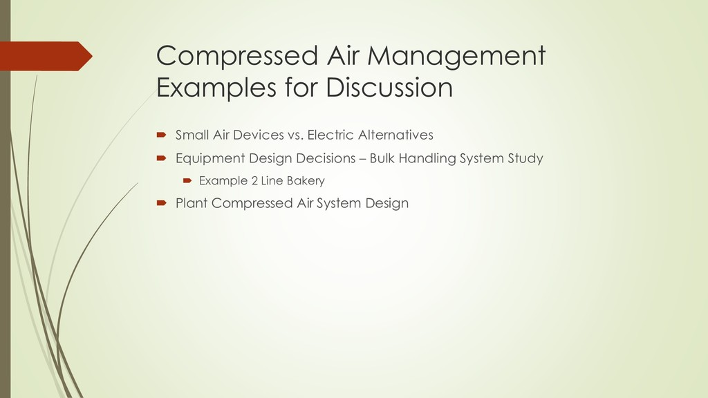 Compressed Air Management Examples for Discussi...