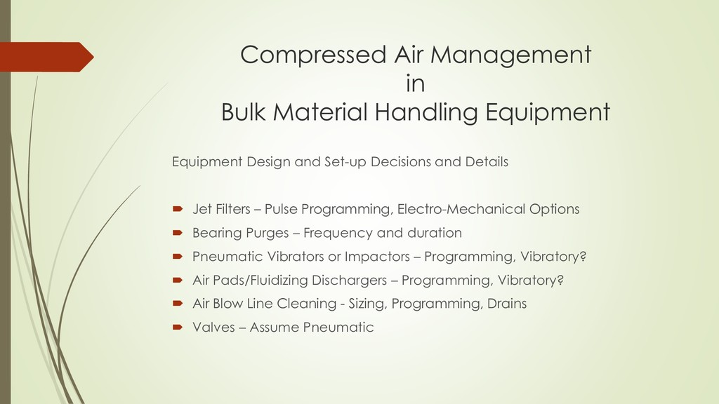 Compressed Air Management in Bulk Material Hand...
