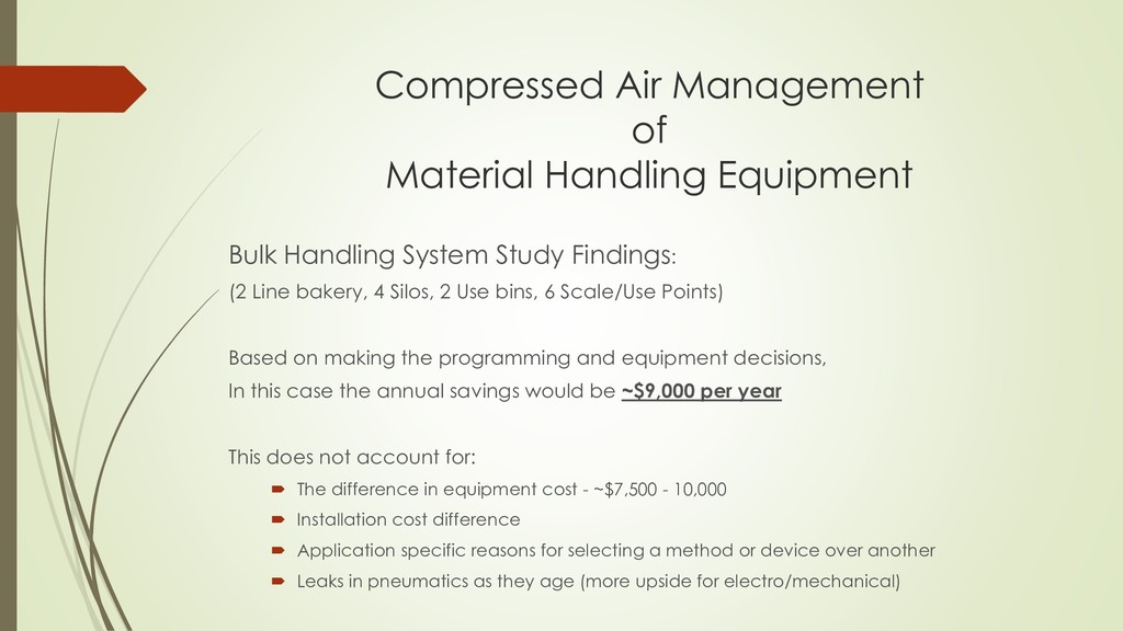 Compressed Air Management of Material Handling ...