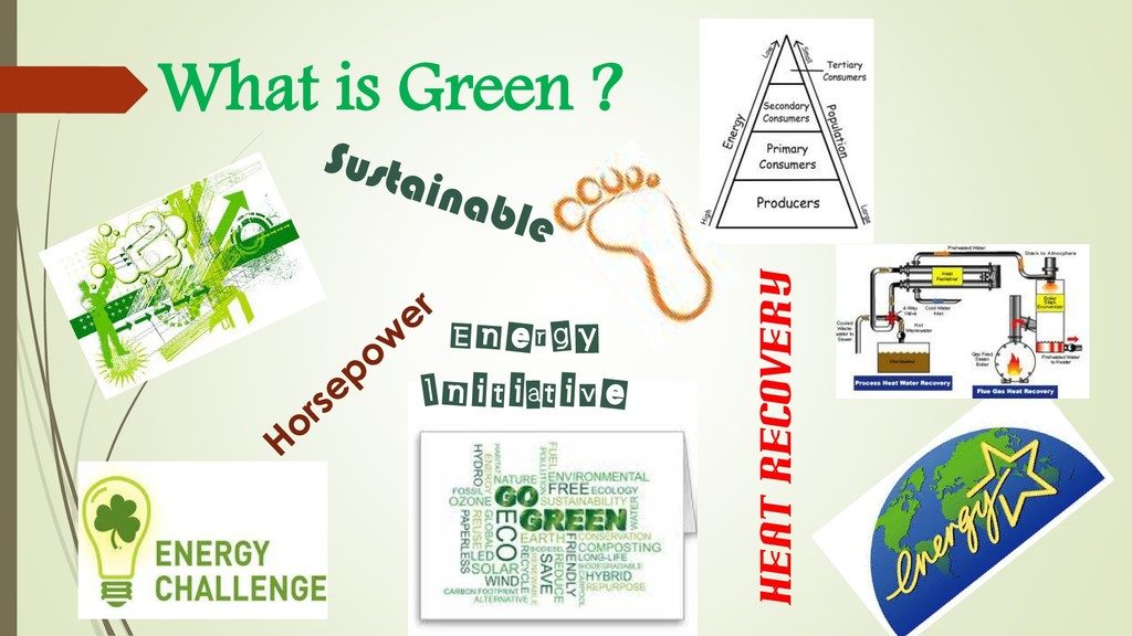Heat Recovery What is Green ? Energy Initiative