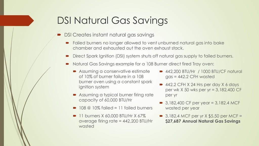 DSI Natural Gas Savings  DSI Creates instant n...